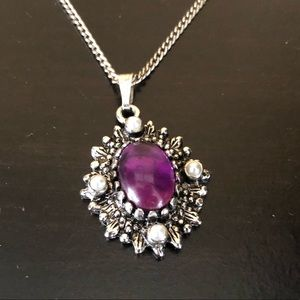 Beautiful Vintage Sarah Coventry Necklace Silver